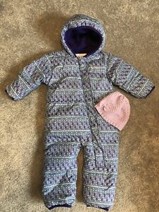 Columbia snowsuit with knit toque size 12-18 months