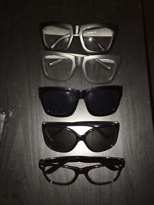 Assorted Fashion Glasses Frames & Sunglasses with Cloth & Pouch