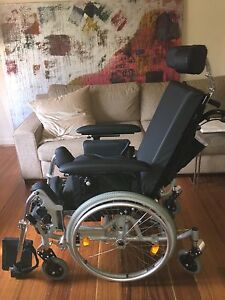 "Rupiani comfort recline wheelchair 18"" with contoured back Albert Park Port Phillip Preview"