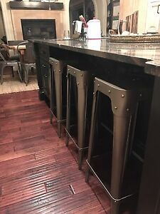 3 Industrial Bar Stools