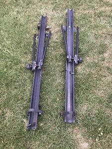 Two Thule bike racks