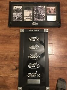 Limited edition Harley shadow boxes