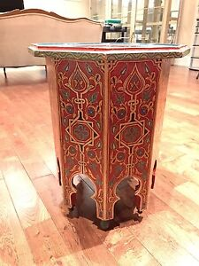 MOROCCAN SIDE TABLE MIDDLE EASTERN DESIGN TABOURET IMPORTED