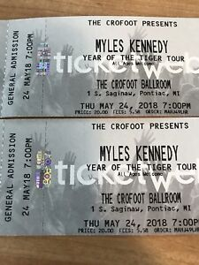 Myles Kennedy , May 24 at Crofoot, Pontiac Mich.