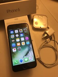 iPhone 6  64 GB Telus. Space grey-screen cracked but works fine