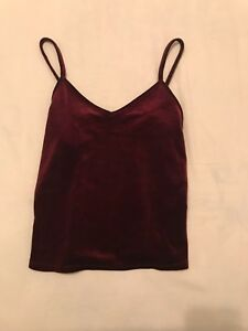 red velvet tank - size extra small