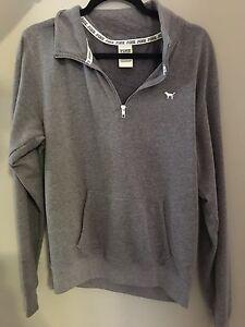 VS pink half zip sweatshirt