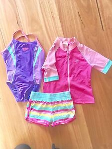Girls Size 6 Speedo Bathing Suit, Shorts and Rashie $9 Moonee Ponds Moonee Valley Preview