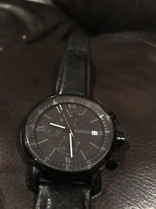 Barely used Black Fossil Watch