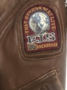 Parajummpers ( Authentic Brown Leather Jacket size Large
