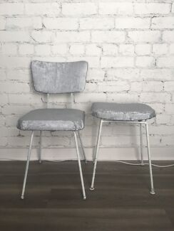 Metal silver diy chair and stool