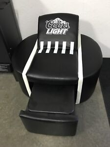 Man cave chair with cooler