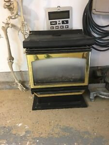 Natural gas wood stove fireplace