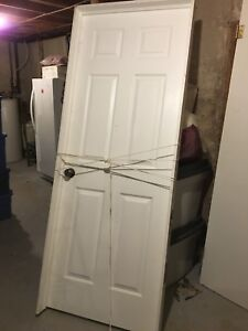 Six-panel pre-hung interior door