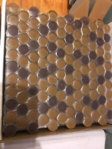 9 boxes of Penny Round tiles (10 sheets in each box)