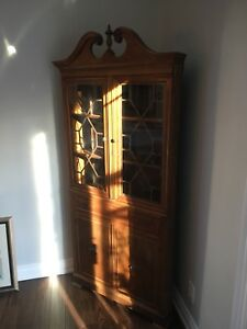 Antique Dining Set and Corner Hutch