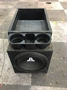 Sub box with amp for semi truck