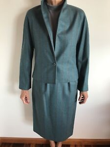 Vintage 70s Bernard Perré Pure Virgin Wool 2-Piece Suite Size 8