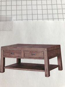 Table de centre pour salon en bois et tiroir neuve