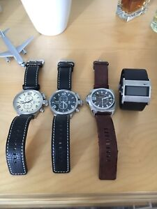 Watches only used a few times. Diesel, Nike, & Invicta