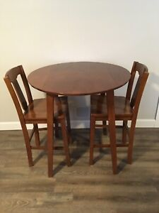 Counter height table and chairs for sale