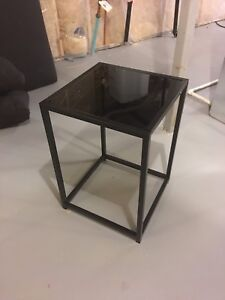 2 side tables glass top