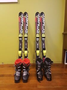 Down Hill skis and boots