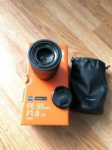 Sony Zeiss 55mm 1.8 lens Excellent Condition