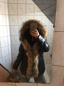 Manteau mi long LARGE vrai fourrure style rudsak