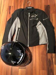 Ladies AlpineStar motorcycle jacket and helmet (size small)