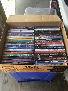Selection of DVDs and VHS types