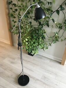 Standing Lamp with Black Shade