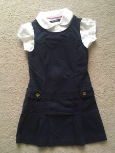 Uniform girls 6T - dress and button shirt