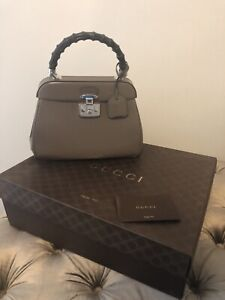 6da2f09e6029 •• GUCCI Lady Lock Bamboo Top Handle Bag •• Designer Handbag ...