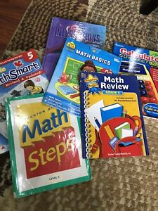 6 Math Book and Workbooks