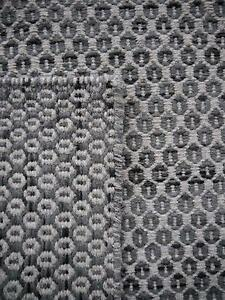 New Braid Hive Charcoal Grey Wool Geometric Flatweave Rugs Melbourne CBD Melbourne City Preview