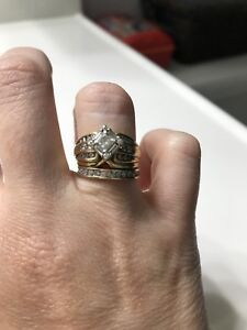 Ladies diamond Ring & Bands - Sz 5