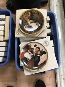Collector plates Norman Rockwell Anna Perena