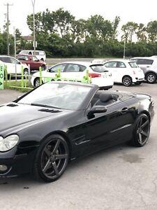 2007 Mercedes SL550R  roadster all black drop top
