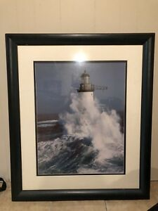 Light House painting professionally framed