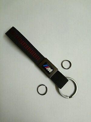 2 X BMW M Sport Leather Key Ring Fob Chain M2 M3 M4 M5 E92 E46 F80 F82 Gift