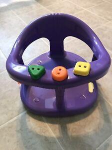 Purple baby bath seat