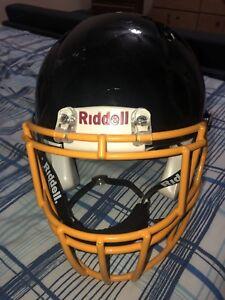 Riddell football helmet black and yellow