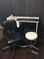 Manicure Tables & 2 seats