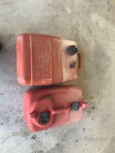2 outboard gas cans