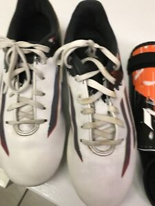 Boys cleats and shin pads