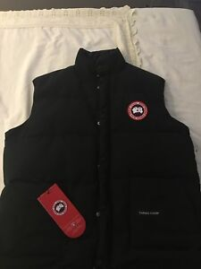 Black Canada Goose Vest for Sale