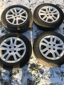 Civic si rims and good year Nordic winter tires 185/65r15