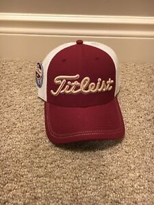 Rare New w Tags Titleist Mesh Fitted Hat. M/L
