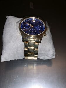 Montre Guess Or et Bleu / Guess Watch Gold and Blue
